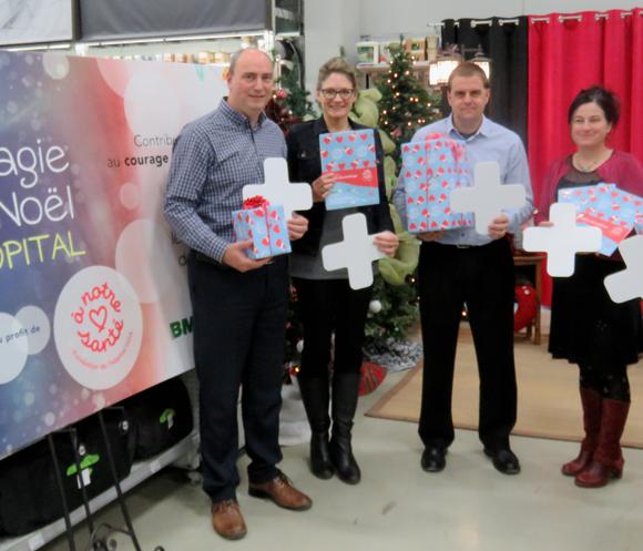 BMR et Brunet Plus présentent La magie de Noël à l'hôpital : réunis pour notre santé !