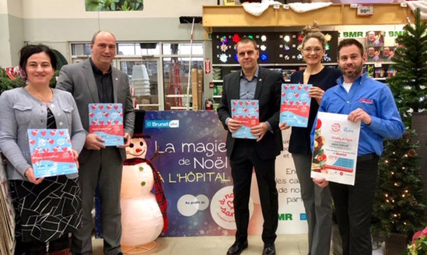 BMR et Brunet Plus présentent La magie de Noël à l'hôpital!