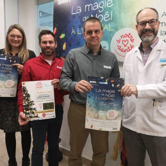 VIVACO groupe coopératif et Brunet présentent la 9e édition de La magie de Noël à l'hôpital.